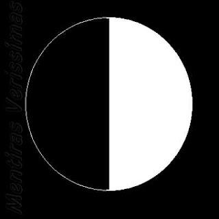 Esquema de Lua Quarto Minguante.