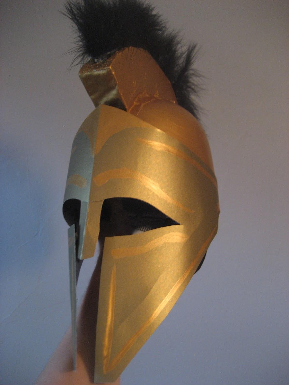 DIY Spartan Hoplite Costume How to Make a Helmet & Chuck Does Art: DIY Spartan Hoplite Costume: How to Make a Helmet
