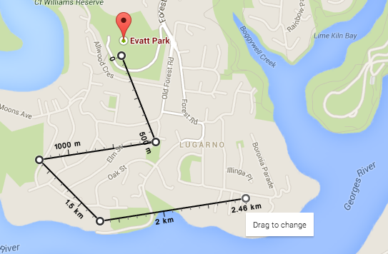Distance Measurement in the New Google Maps