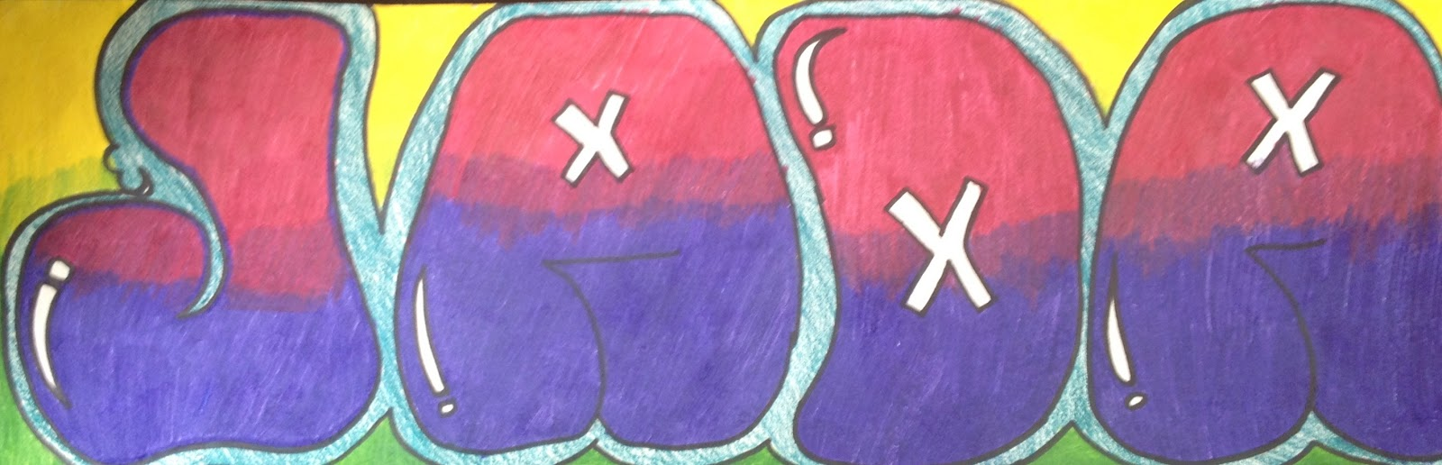 Art at AMY Northwest: Cycle 4: 8th Grade - Graffiti Letter Name Designs