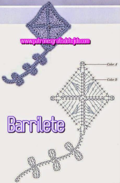 esquema crochet de barrilete