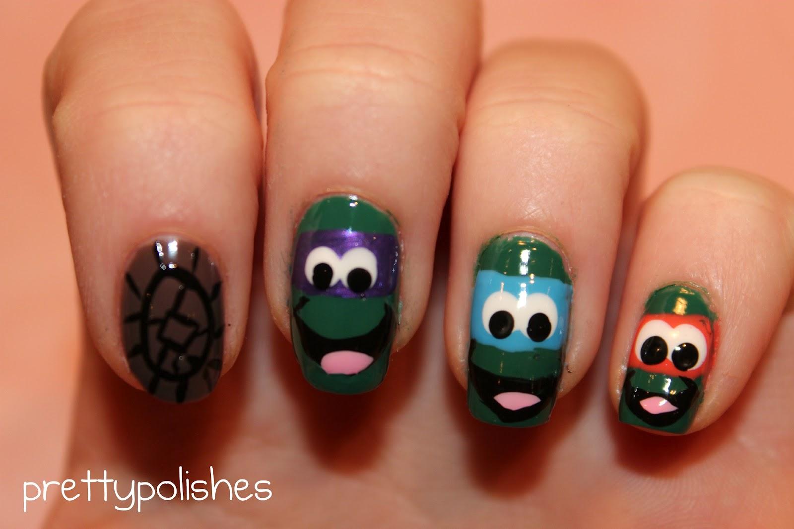 prettypolishes: Ninja Turtle Nails!