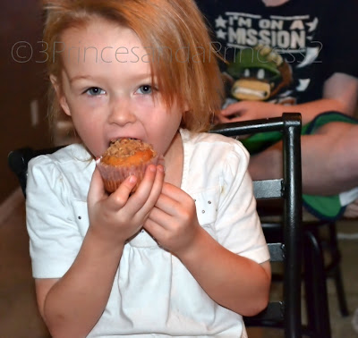 eating muffins