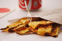 Chips de calabacin con pecorino