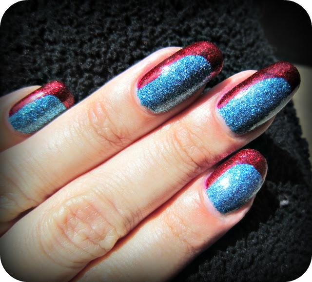 Concrete And Nail Polish Milani Blue Flash Amp Some Nail Art