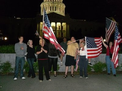 Celebration of Osama bin Laden's death at Capitol