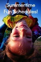 Summer Schedule | Organizingmadefun.com