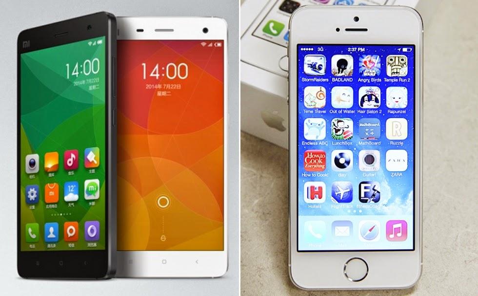 Xiaomi Mi4 Vs Iphone 5s Model  Xiaomi Mi4  iPhone 5S