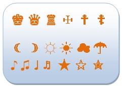 symbole pour texte