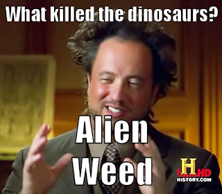 Alien Weed killed the dinosaurs