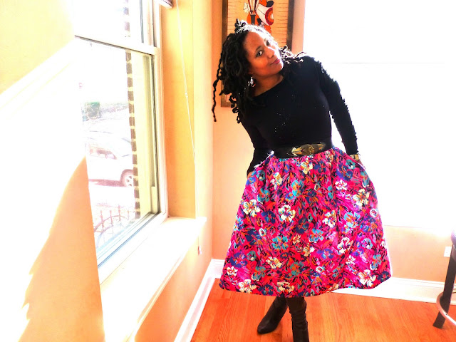 Thrifted Midi Skirt