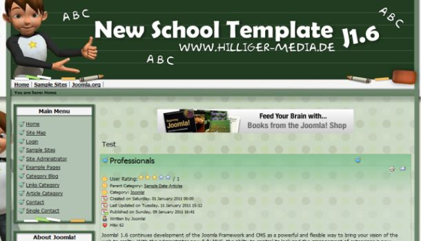 Free Joomla 1.6 Green Education Template