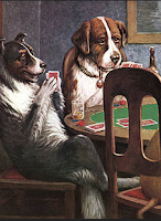 Why do dogs sit on their tails when they play poker?