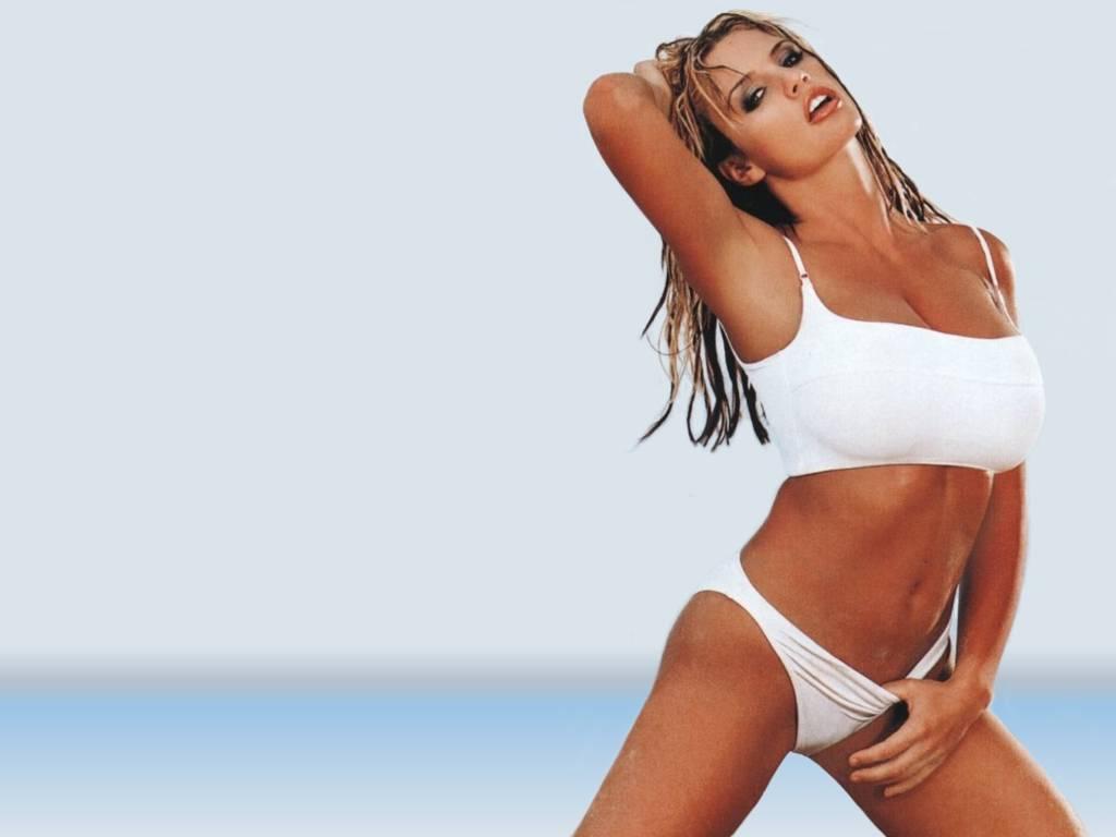 katie price white bikini
