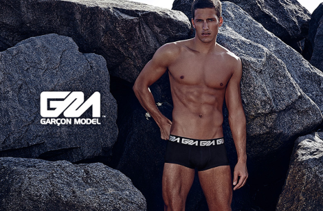 Tyler Kenyon models Garcon Model SS14 Underwear