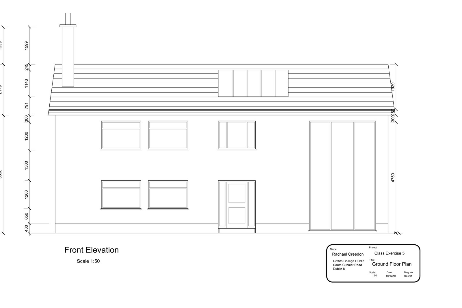Ground Floor Plan Front Elevation : Spaghetti on the wall d cad
