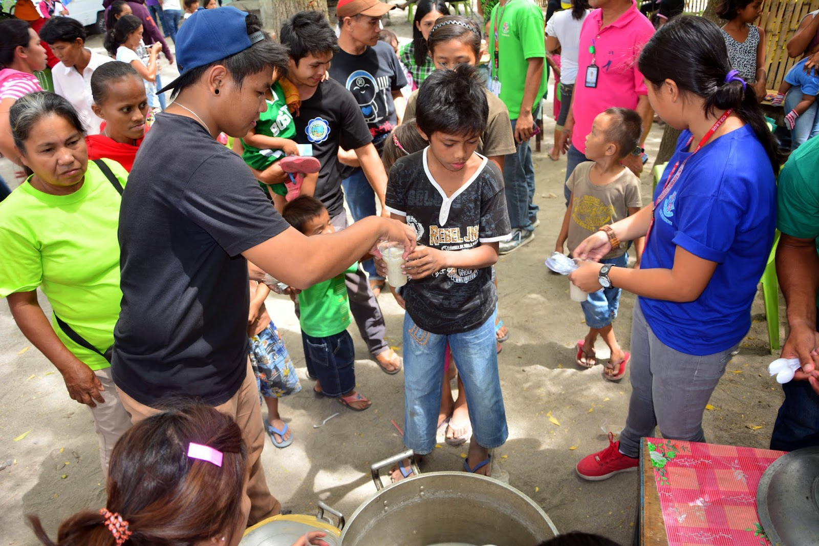 feeding program in a barangay On survival aspect – barangay sustained feeding programs are conducted in regular basis as well as feeding program activities done by partner organizations , medical missions intended for children are being facilitated not to mention the on-going barangay.