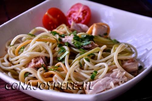 Espaguetis con at n con ajo y perejil for Espaguetis con ajo y perejil