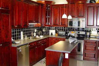 Dark Cherry Kitchen Cabinets Pictures