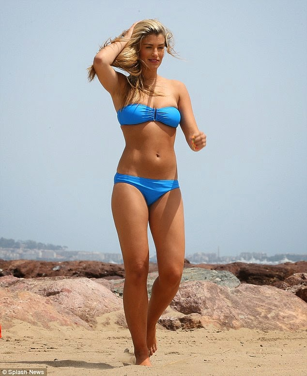 Amy Willerton bikini on the beach