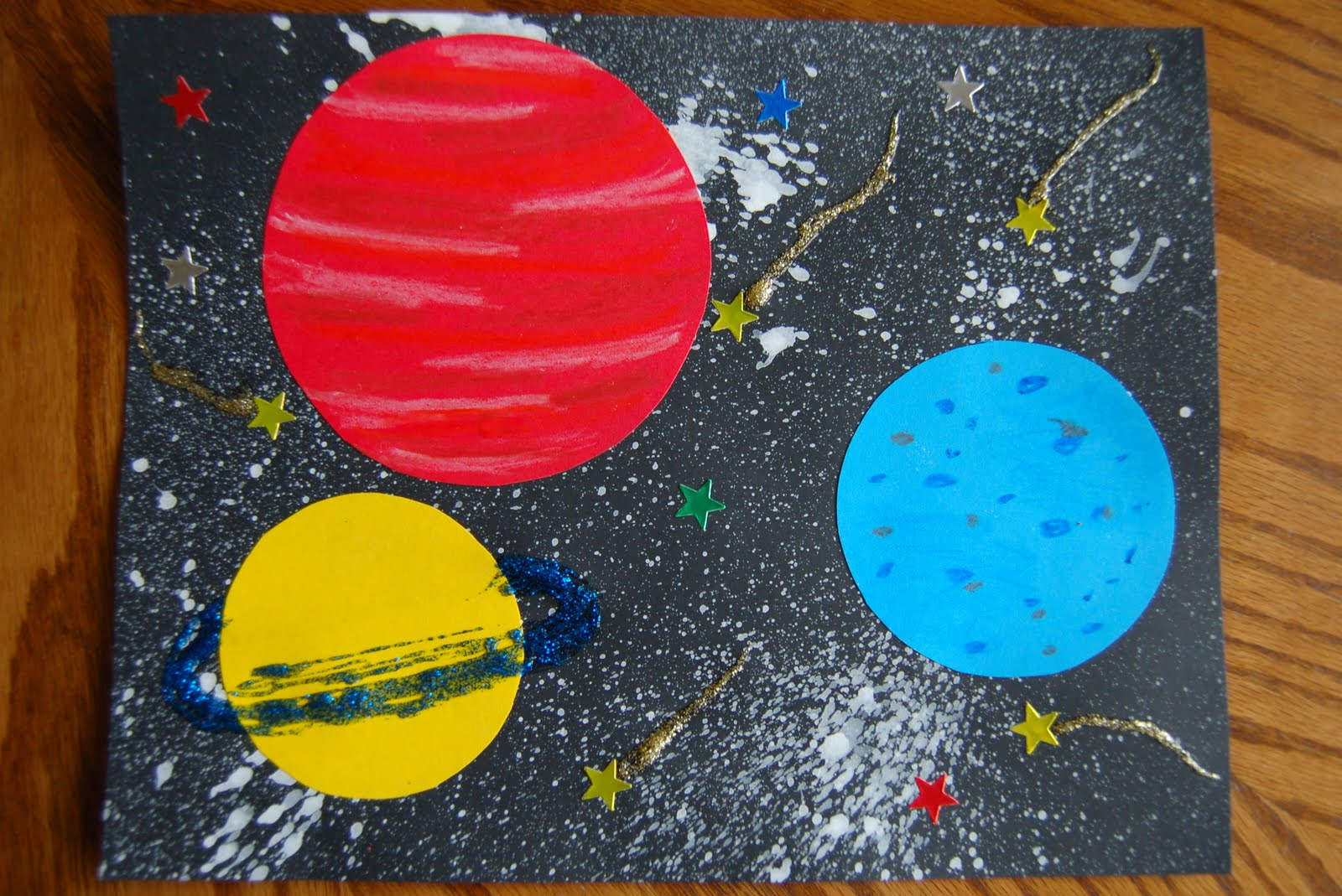 Out of this world craft i heart crafty things for Outer painting design