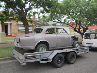 Volvo 122S after soda blasting