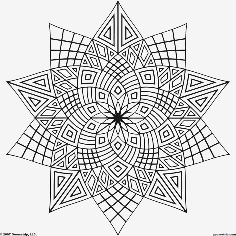 Astounding image with printable geometric coloring pages