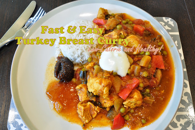 Easy, fast, low-calorie turkey breast curry.
