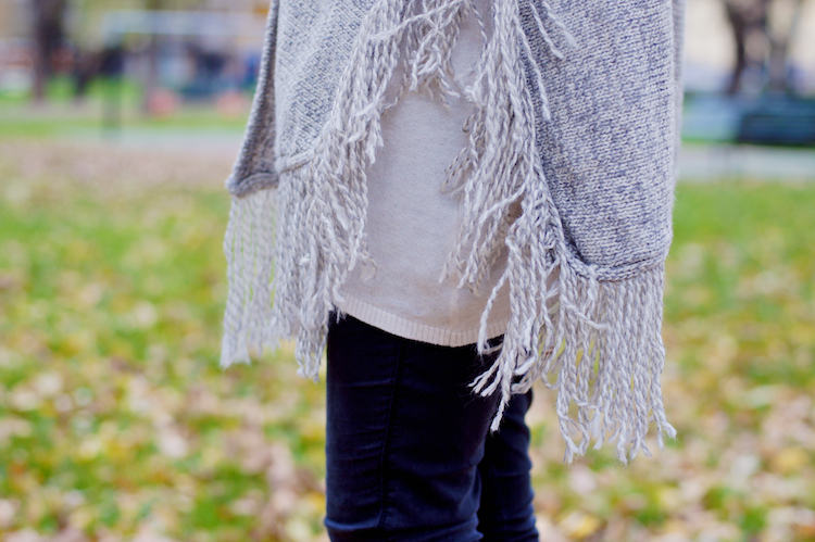 fringed sweater detail