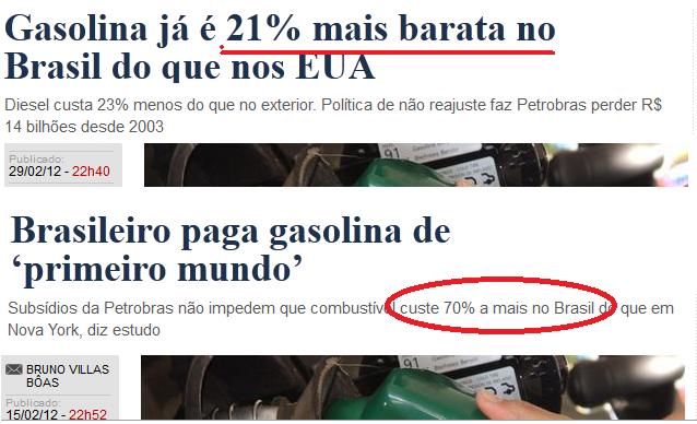 Engoliu essa o jornal o globo errou for Gasolina barata tenerife
