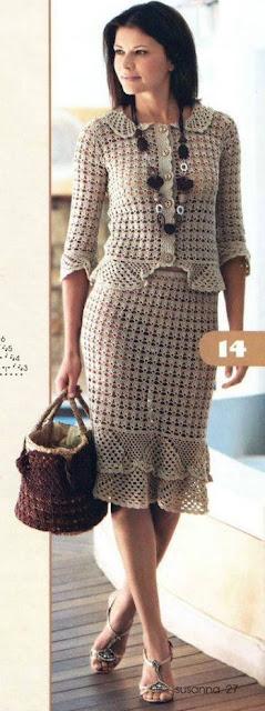 Falda Elegante tejida a Crochet