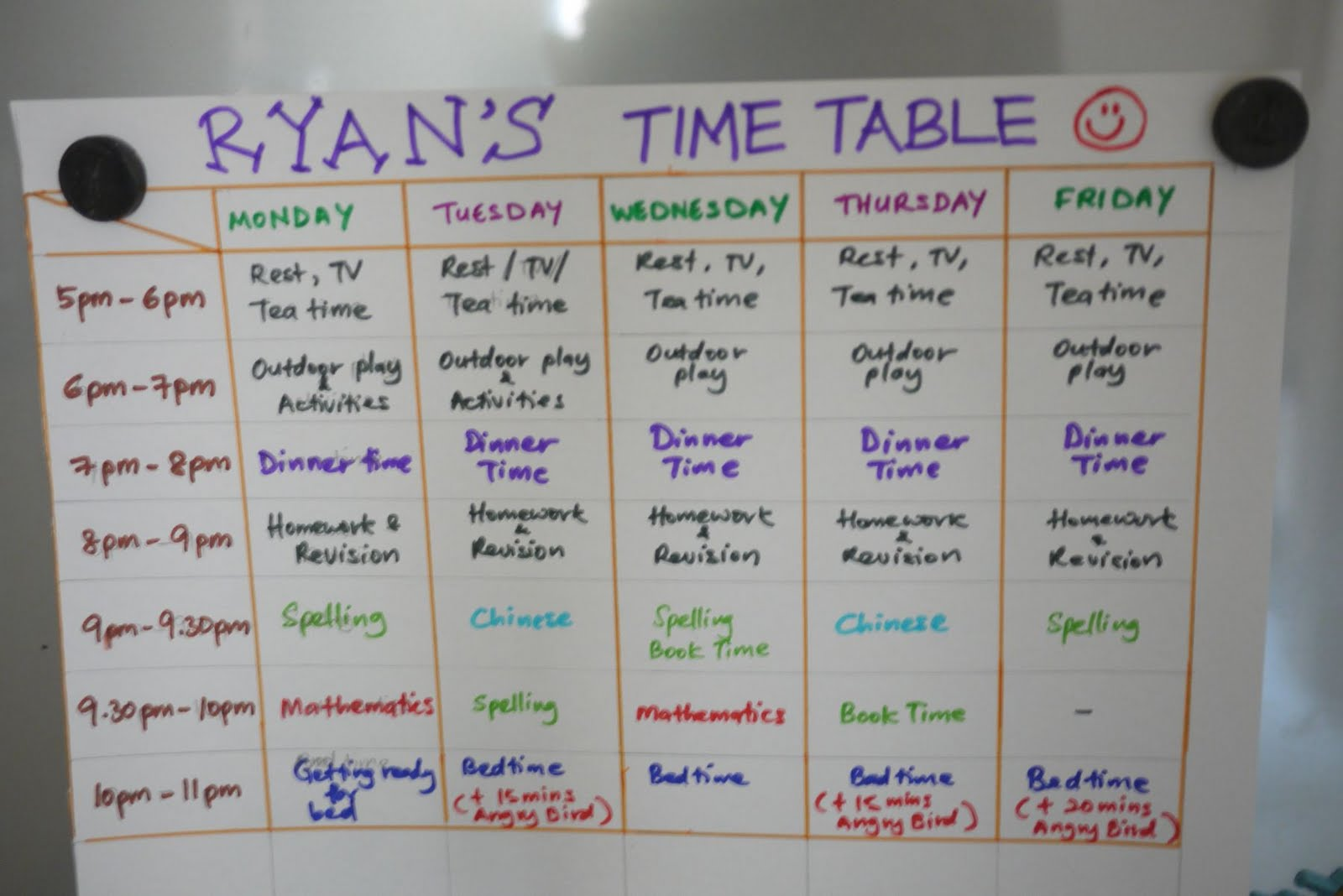 Revision timetable template new calendar template site