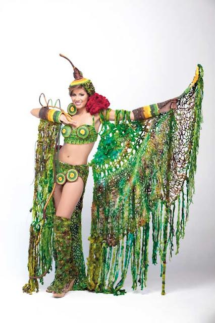 Srta. Colombia 2011-2012. Desfile en traje artesanal Boyacá: Lina María Gallego Bejarano
