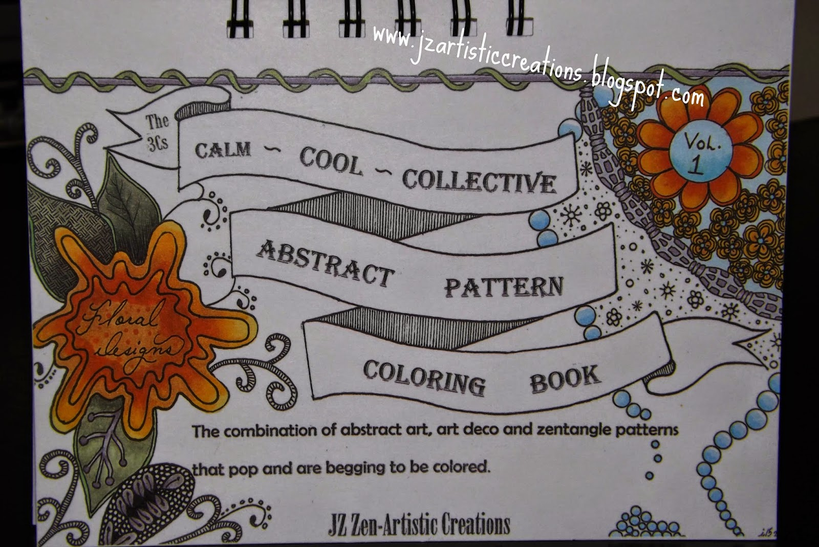 Presenting My Doodle Zentangle Coloring Book Floral Designs Vol1 Where All Had Been Hand Drawn And Not Computer Generated