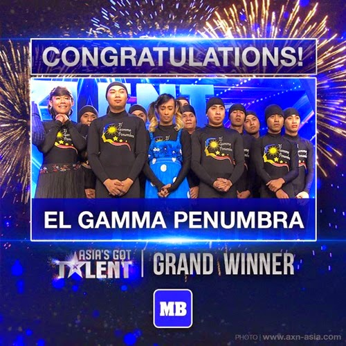El Gamma Penumbra pemenang Asia's Got Talent 2015, juara tempat pertama Asia's Got Talent, hadiah pemenang Asia's Got Talent RM360,000, 9 finalis peserta Asia's Got Talent, gambar pemenang Asia's Got Talent, grand finale Asia's Got Talent AXN 701 Astro, winner Asia's Got Talent