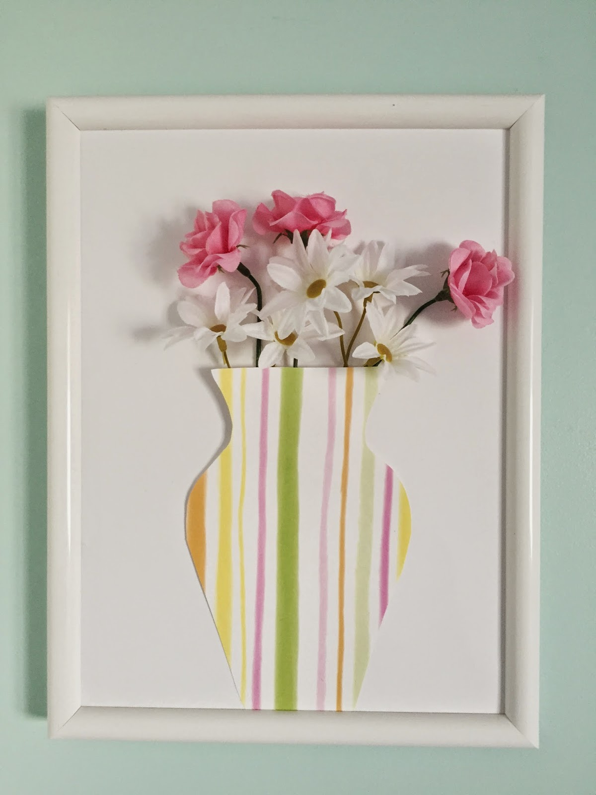 Diy Spring Wall Decor : The trendy chick diy d spring wall decor
