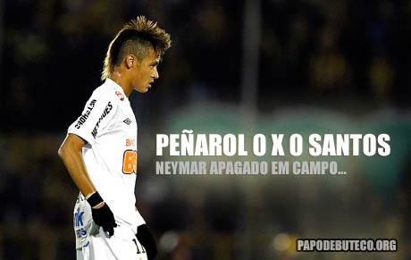 Neymar no jogo Peñarol 0 x 0 Santos - Copa Santander Libertadores