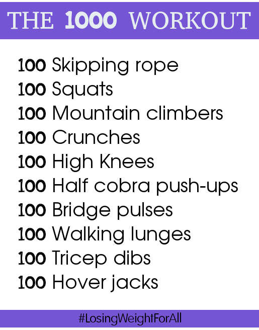 The 1000 workout