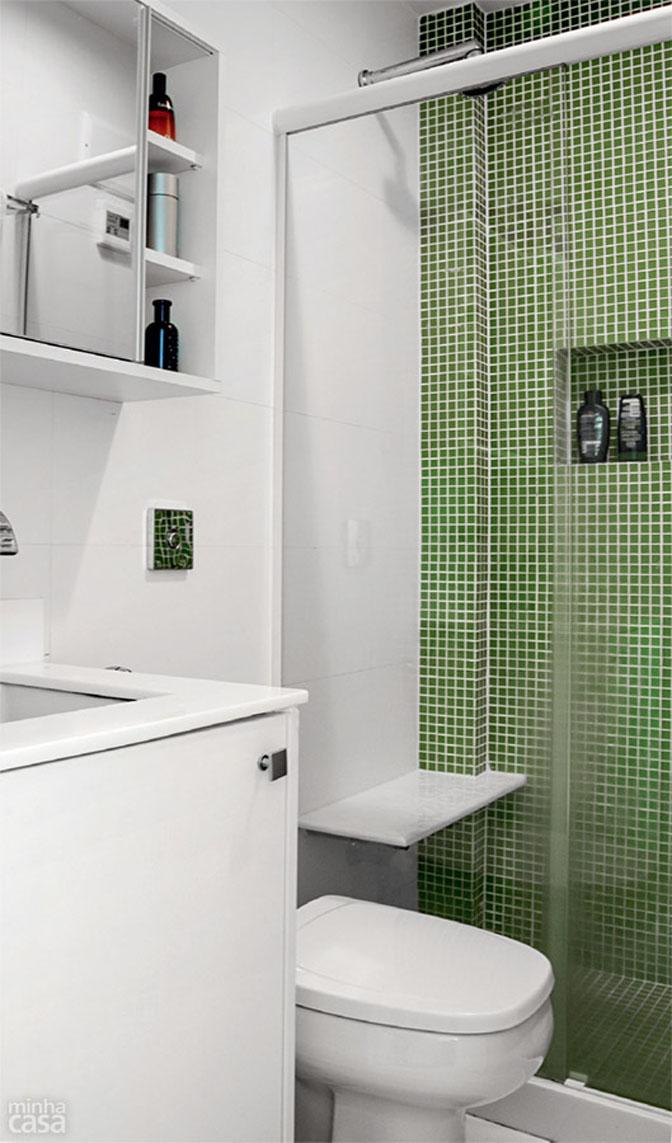 Boas ideias para apartamento pequeno ou quitinete!  Comprando Meu Apê  Comp -> Banheiros Planejados Pequenos Para Apartamento