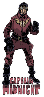 Captain midnight costume, a mix of the radio and serial versions and the comic version