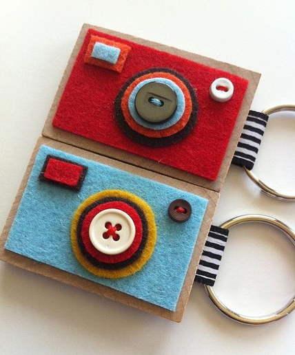 cara membuat Kamera dari kain flanel