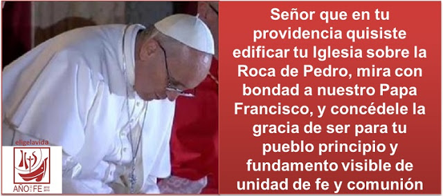 Oracin por el Papa Francisco