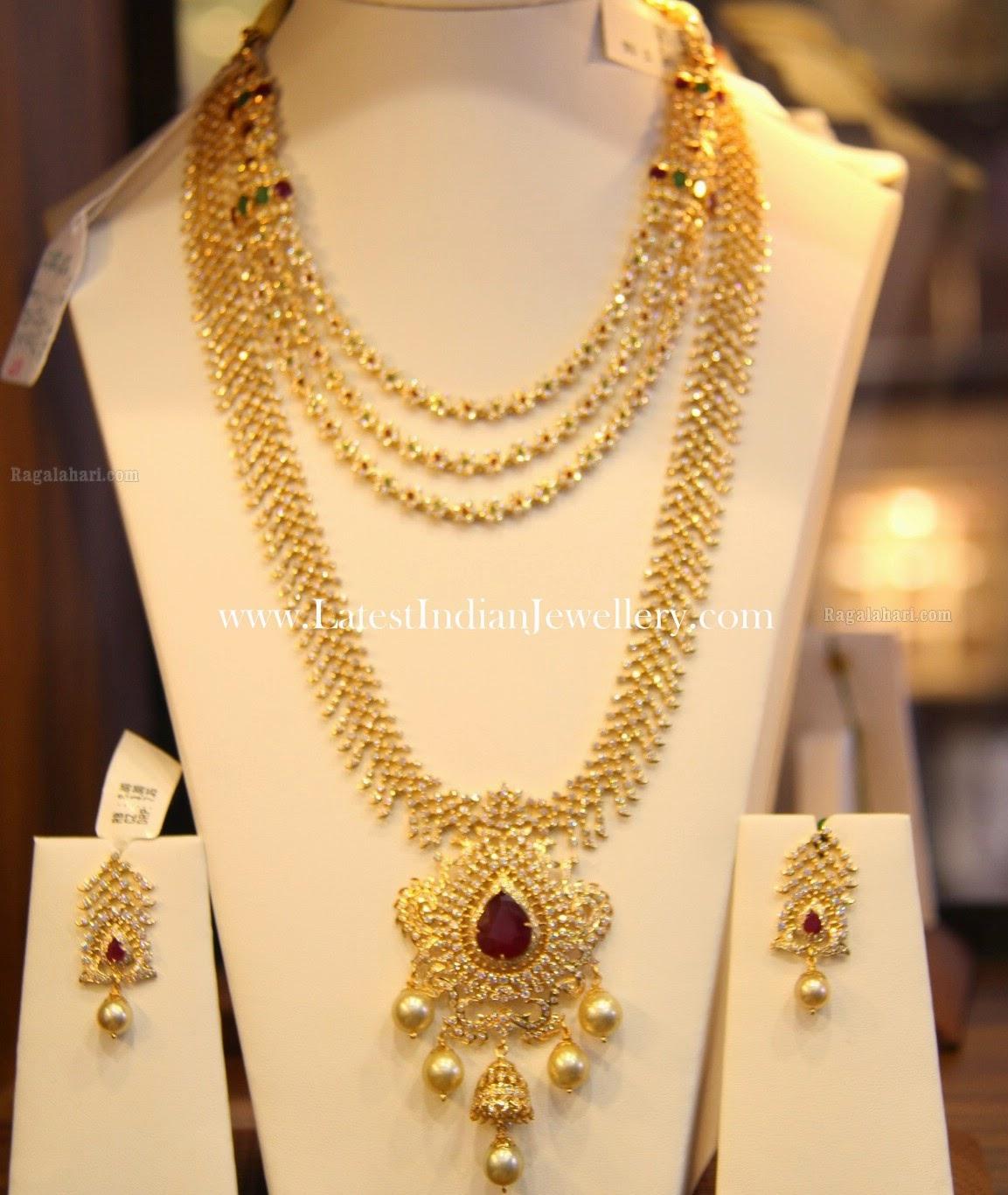 Diamond Haram and Necklace Set