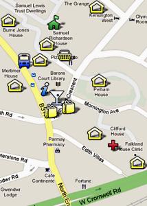 Lytton Estate Map