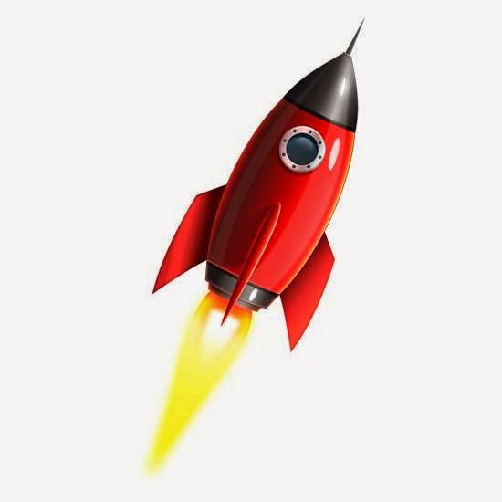 Space rocket icon