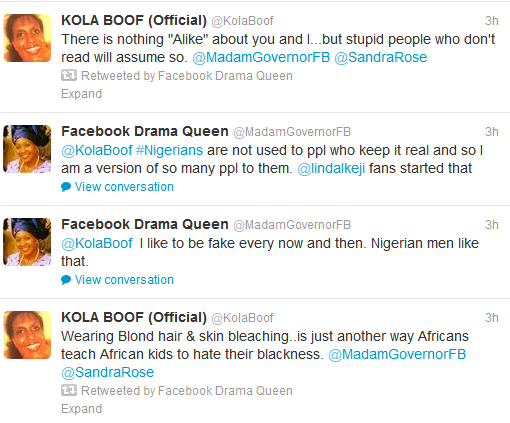 Kola Boof Quotes Kola Even Called Kemi an