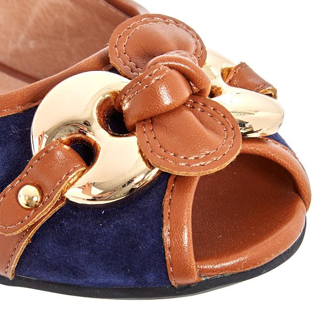 moda in pelle designer blue suede ballet flats pumps