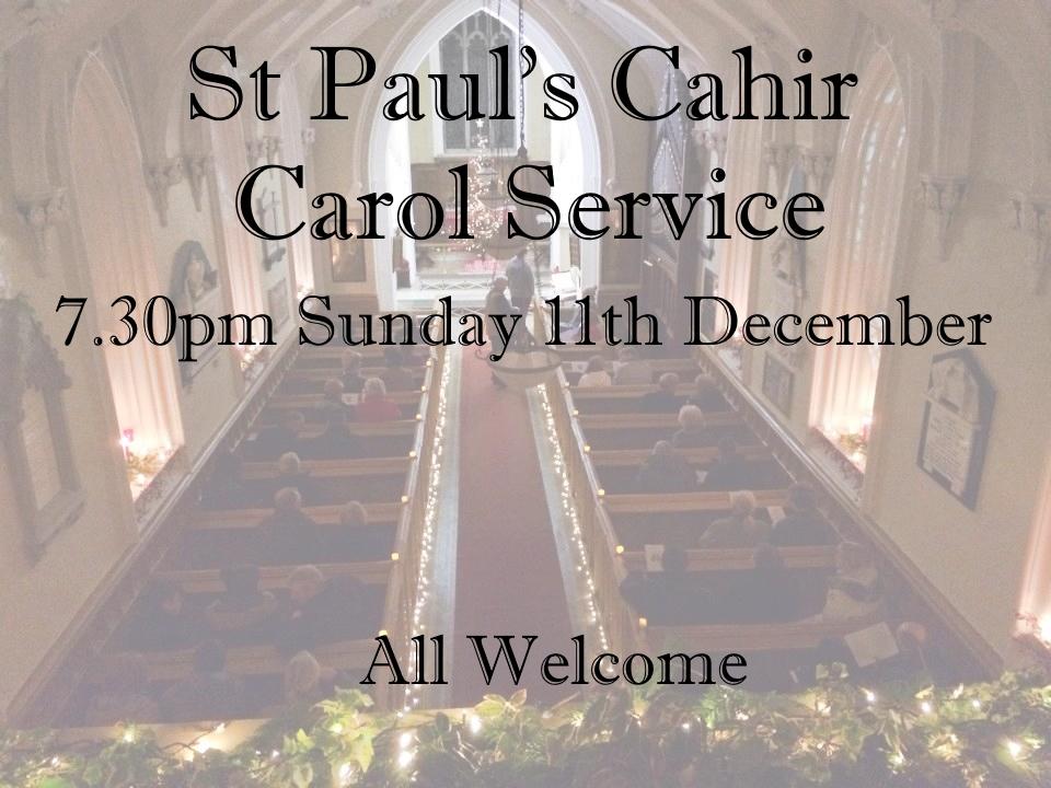 St Paul's Cahir Carol Service 2016