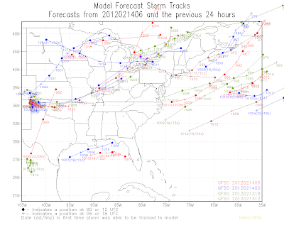 We re starting to see a southward shift in the models. Here's the last
