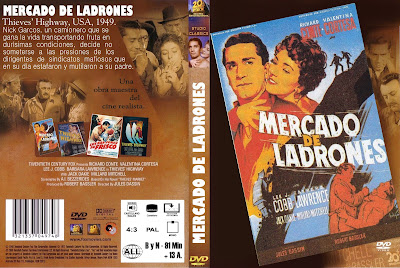 Cover, dvd, caratula: Mercado de ladrones | 1949 | Thieves' Highway